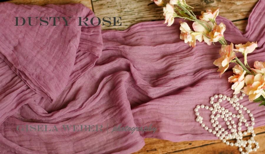 Wedding - 41 Colors, Wedding Table Runner Gauze In Dusty Rose For Rustic Wedding, Farmhouse Table Runner, Arch Wedding Gauze, Wedding Centerpiece