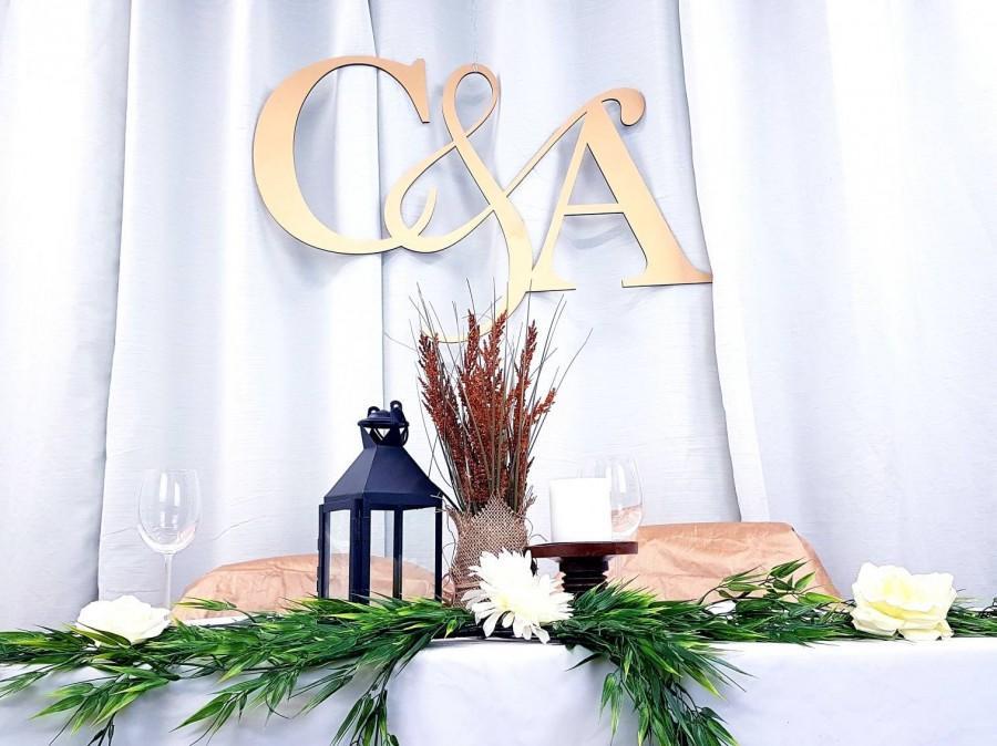 Свадьба - Wood Name Initials