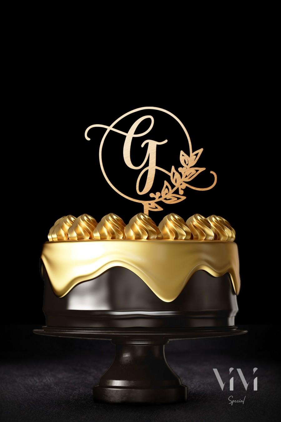 Mariage - Letter G cake topper for wedding