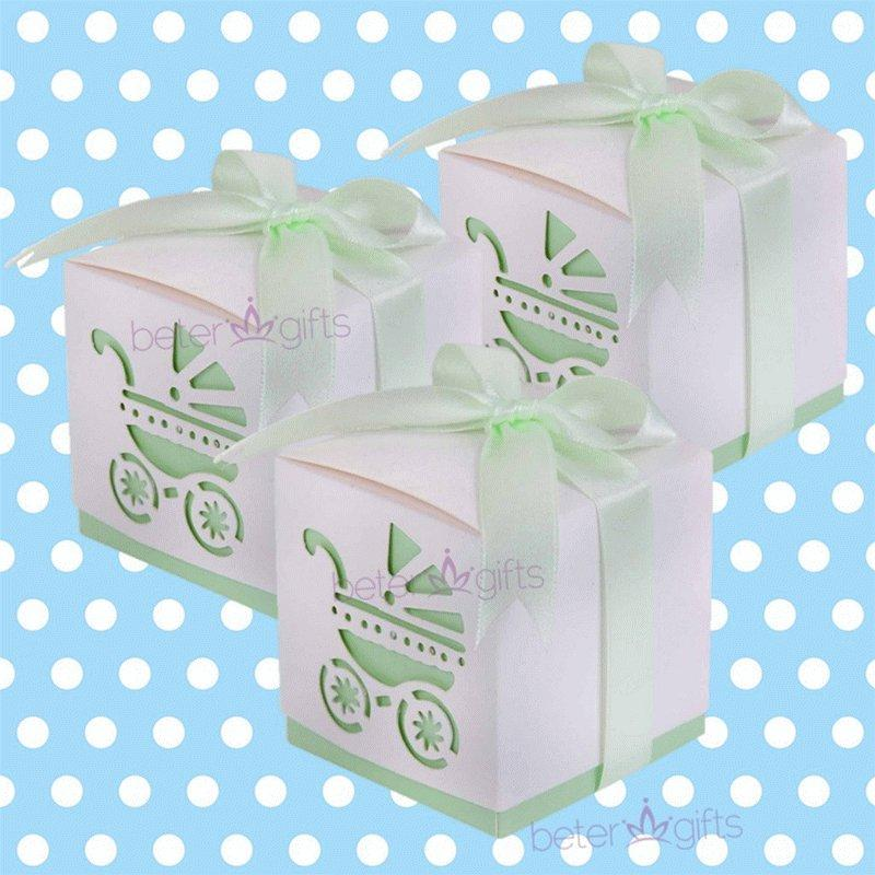 Hochzeit - BeterWedding Baby Carriage Stroll Favor Box BETER-HH024