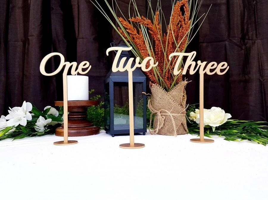 Hochzeit - Gold Table Numbers for Wedding