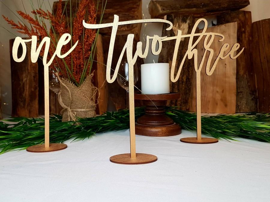 Hochzeit - Rustic Table Numbers for Wedding