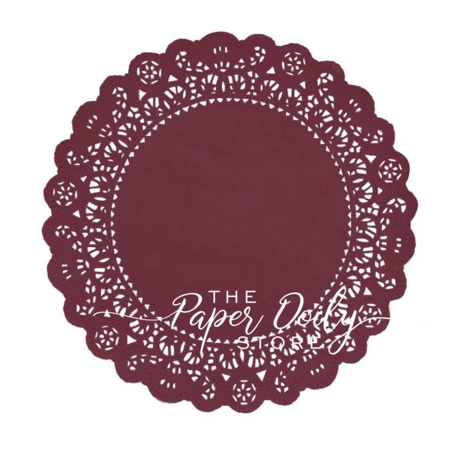 Mariage - BURGUNDY Paper Doilies Normandy