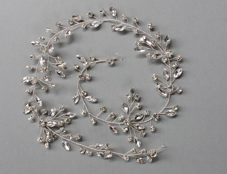زفاف - LISALI  Shining Silver Crystal Hair Vine , Wedding Hair Vine, Hair Chain ,  Jewellery Headpiece,Wedding Hair Accessories,Bridal Hair Vine