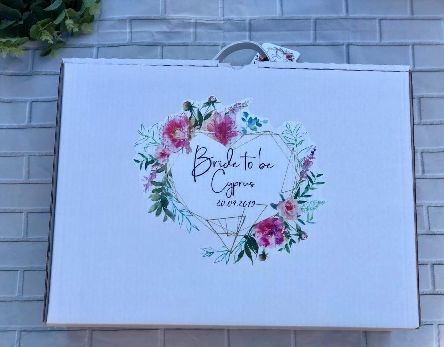 Mariage - Personalised wedding dress box, wedding dress travel box, personalised travel box, personalised wedding box