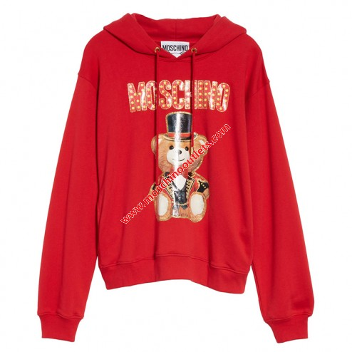 Mariage - Moschino Circus Teddy Womens Long Sleeves Sweatshirt Red