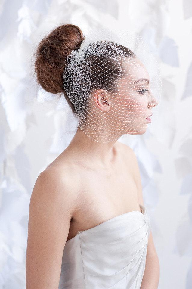 Hochzeit - Birdcage veil - multiple colors lengths- ready to ship