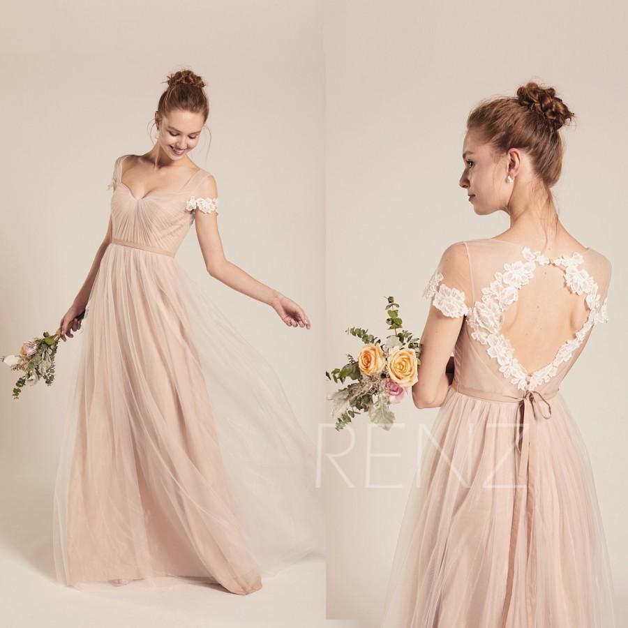 Hochzeit - Formal Dress Long Pale Khaki Tulle Sweetheart Prom Dress A-line Womens Dress (LS482)