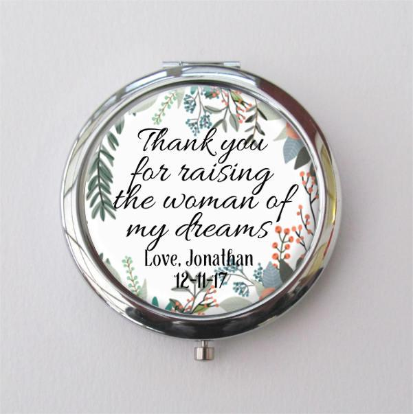 Wedding - Custom Compact Mirror, Mother Of The Bride Gift, Personalized Gift For Mom