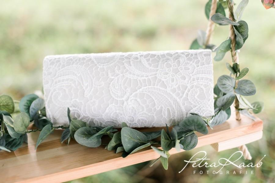 Wedding - T40 bridal bag clutch bridal bag wedding lace barret bag flower girl bag wedding boho bag ring pillow
