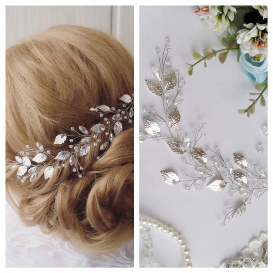 Wedding - Rose gold leaf wedding hair vine Bridal accessories Gold Bridal headpiece Leaves greek crown Bride headpieces Rose gold hair vine wedding