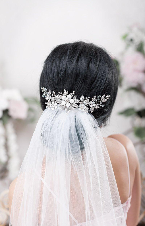Wedding - Wedding hair accessories Bridal hair piece Wedding headband Bridal back headpiece Crystal hairpiece Rhinestone headpiece Bridal Hair Jewelry