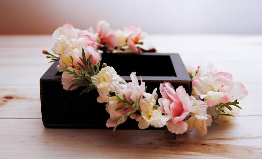 Wedding - Flower Crown- Blush Floral Crown- Romantic Wedding