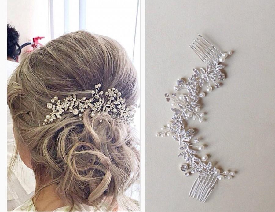 Mariage - Wedding hair comb, bridal hair comb, bridal headpiece,wedding hair piece, bridal hair piece,bridal hair accessory, crystal hair vine