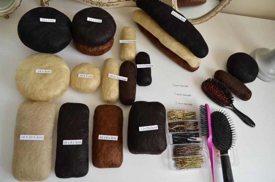 Hochzeit - Hair Padding bun! Bridal Pad! Prom Hair Padding - for Hair Styles adds Hair Volume with Hair Puff Pads (including hair pins)