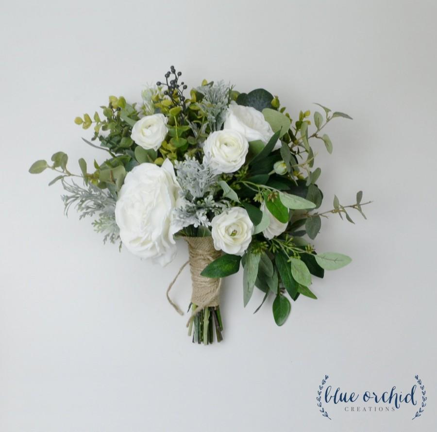 Mariage - wedding bouquet, wedding flowers, boho bouquet, bridal bouquet, fall wedding bouquet, eucalyptus bouquet, white bouquet, destination bouquet
