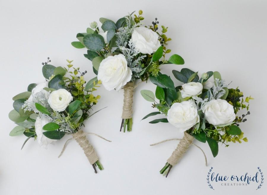Wedding - bridesmaid bouquet, wedding flowers, fall bouquet, fall bridesmaid bouquet, fall wedding flowers, silk wedding flowers, artificial bouquet