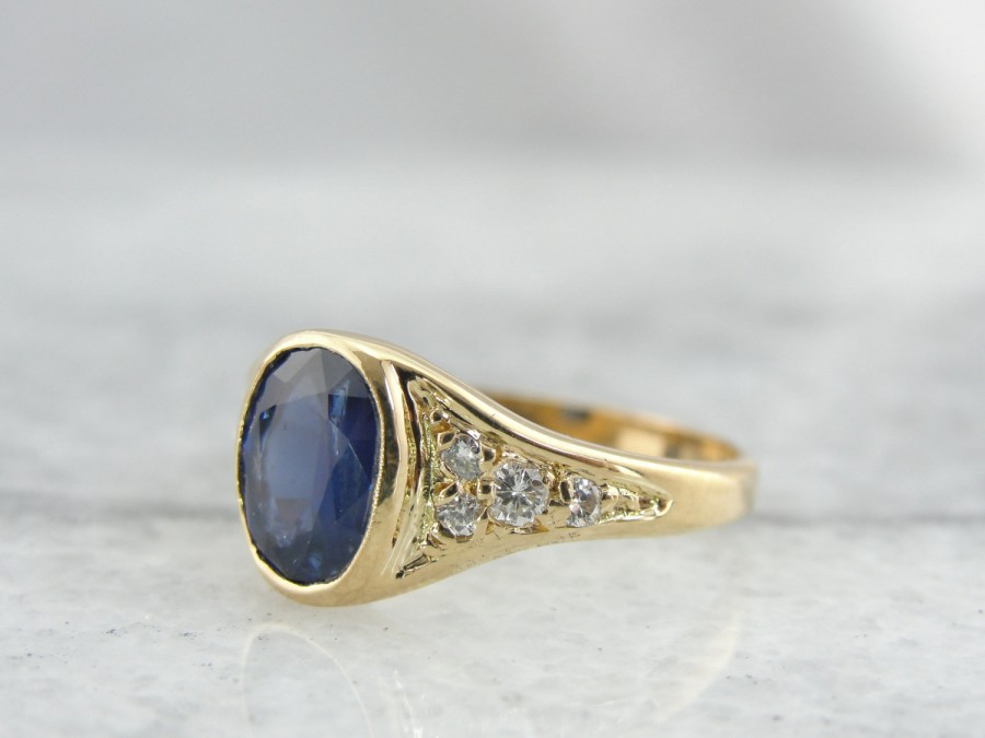 Mariage - Fine Sapphire Ladies Ring for Day or Evening, Easy to Wear - 7PFELN-N