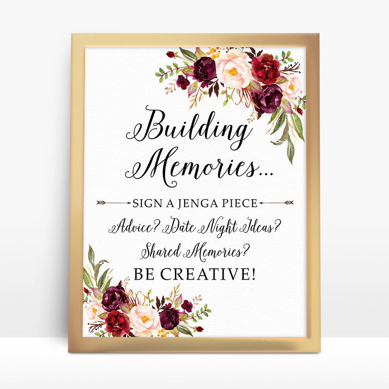 Wedding - Jenga Guest Book Sign, Wedding Jenga, Jenga Sign, Jenga Guest Book, Jenga Wedding, guest book alternative, Building memories Sign  - BPF-23