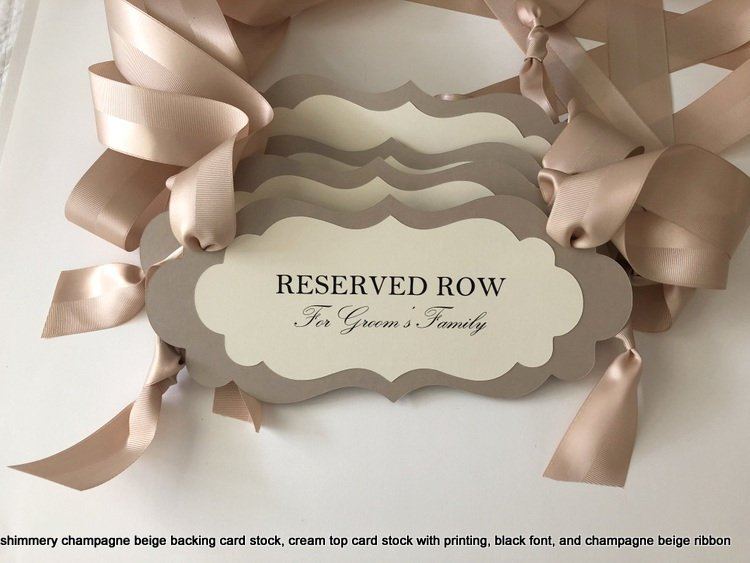 Wedding - Wedding Reserved Row Pew or Chair Signs, Reserve Seat Signs, Family Seating Signs, Custom Wedding Signs, Custom Reserved sign