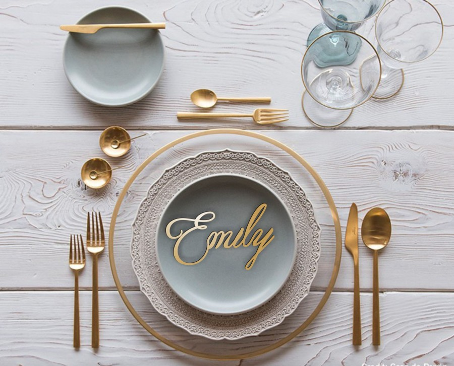 Wedding - Place Name.Wooden Wedding Place Setting.Wedding Place Cards.Wooden Wedding Place Name