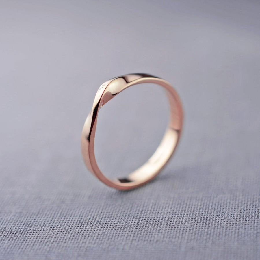 Hochzeit - Mobius Ring, Silver Mobius Ring, Solid Mobius Ring, Mobius Band, 9K Mobius Ring, 14K Mobius Ring, Wedding Ring, Width 2,6mm, Twist Band Ring