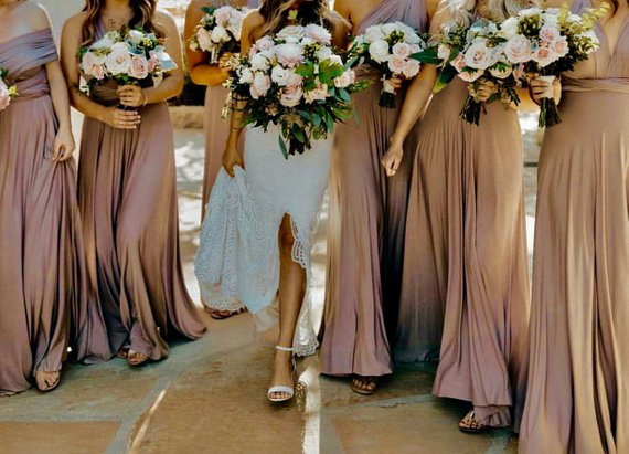 Hochzeit - Bridesmaid Dress Infinity Bridesmaid Dress Burgundy Navy Mauve Dusty Rose Sage Floor Length Maxi Wrap Convertible Dress Wedding Dress