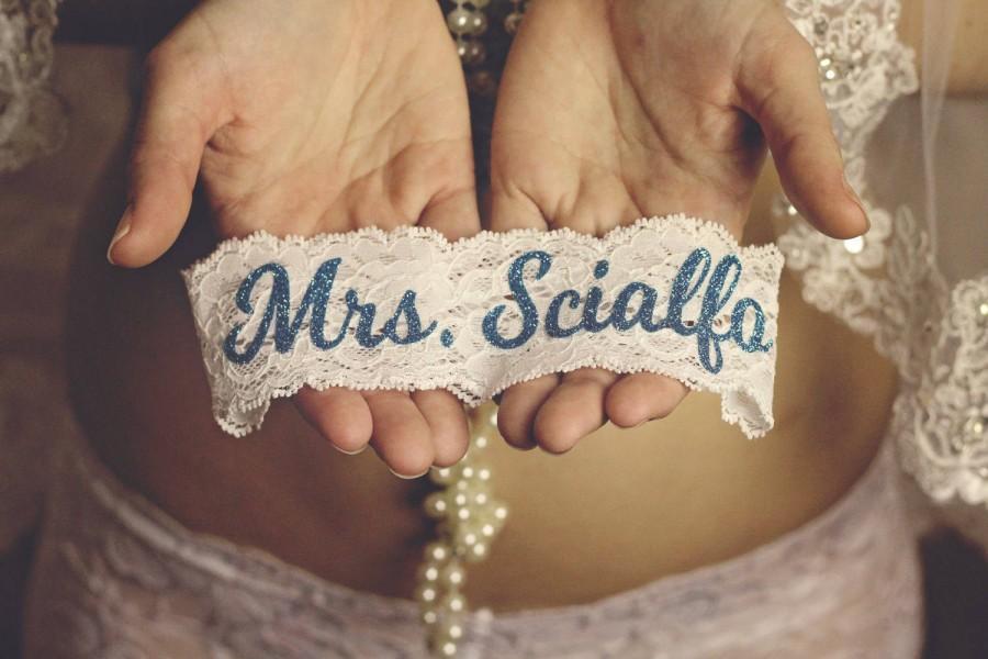 Wedding - SOMETHING BLUE for BRIDE Wedding Garter / Wedding Garter / lace garter / Something Blue