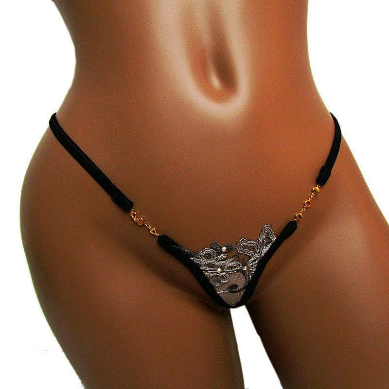 Hochzeit - Women thongs french style see through Sexy panties golden chain Y back underwear lady micro G-strings lingerie mini calcinha Free shipping