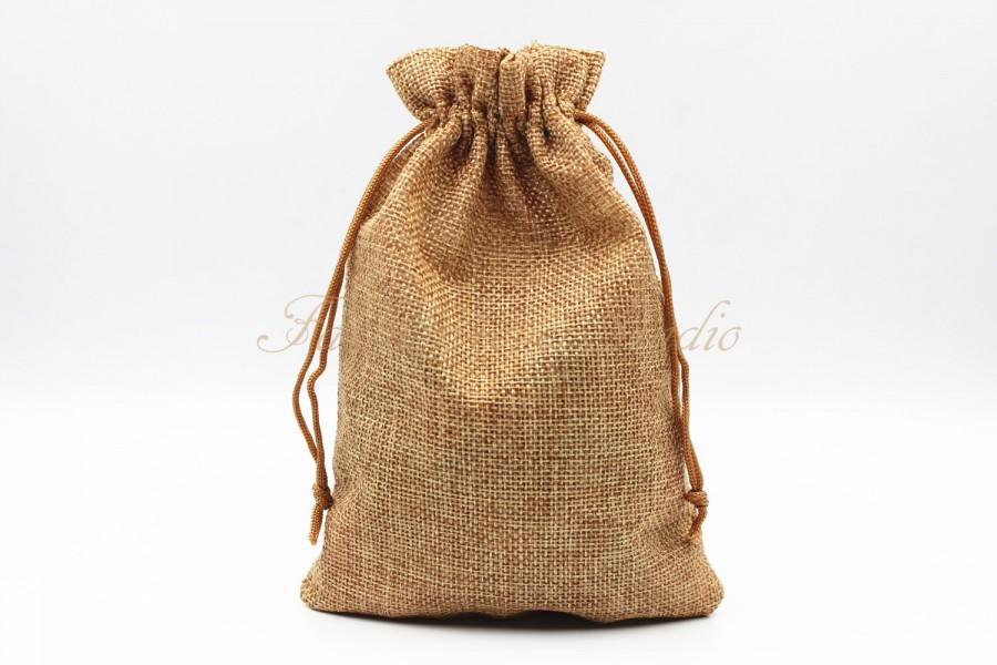 "Wedding - 10pcs Burlap Bags 4x5.25""/5x7"", Jewelry Bags, Gift Bags, Burlap Favor Bags, Jute Bags, Party Favor Bags, Wedding Gift Bags, Jute Favor Bags"