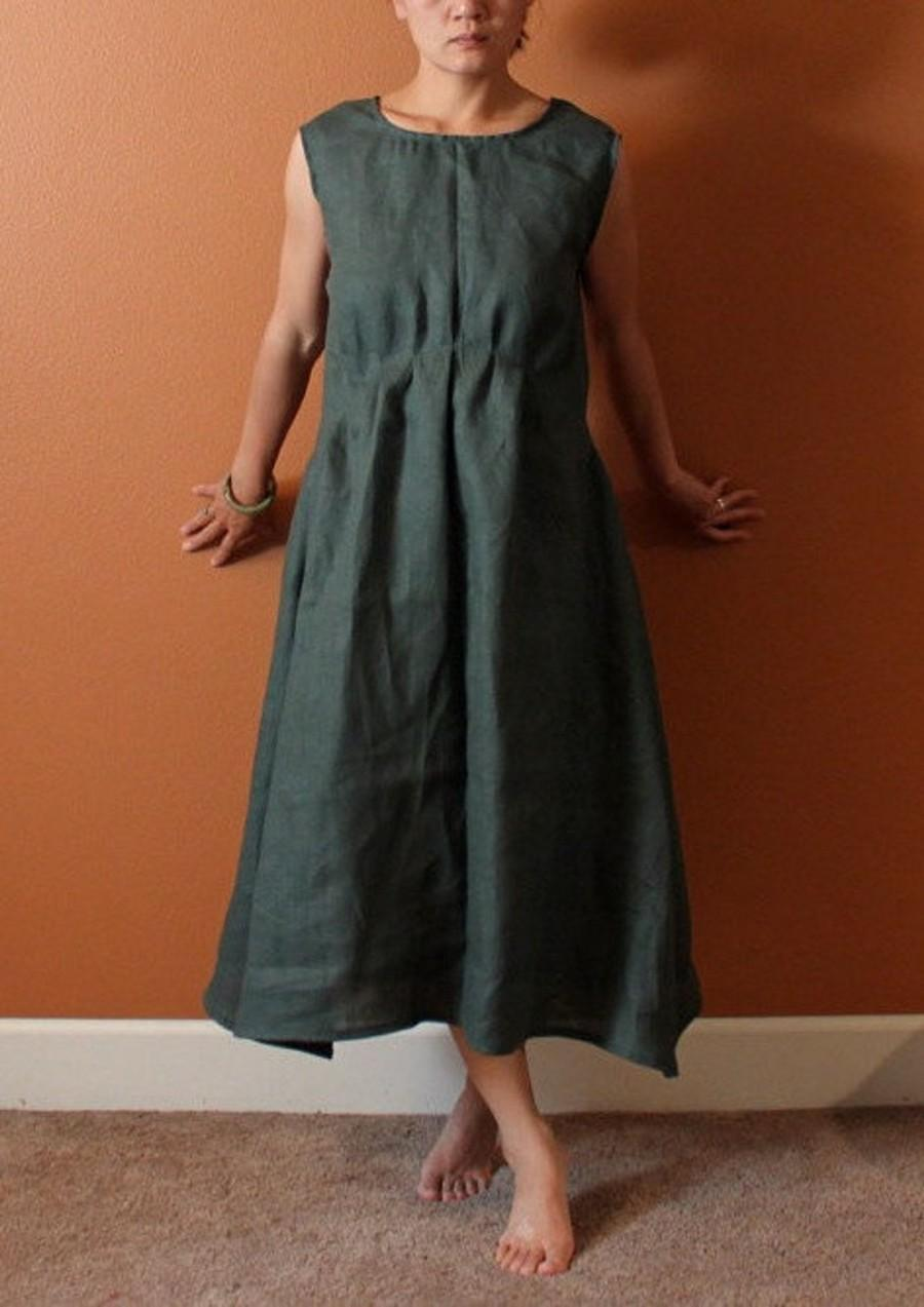 Mariage - piano fold indie women linen dress made to fit listing