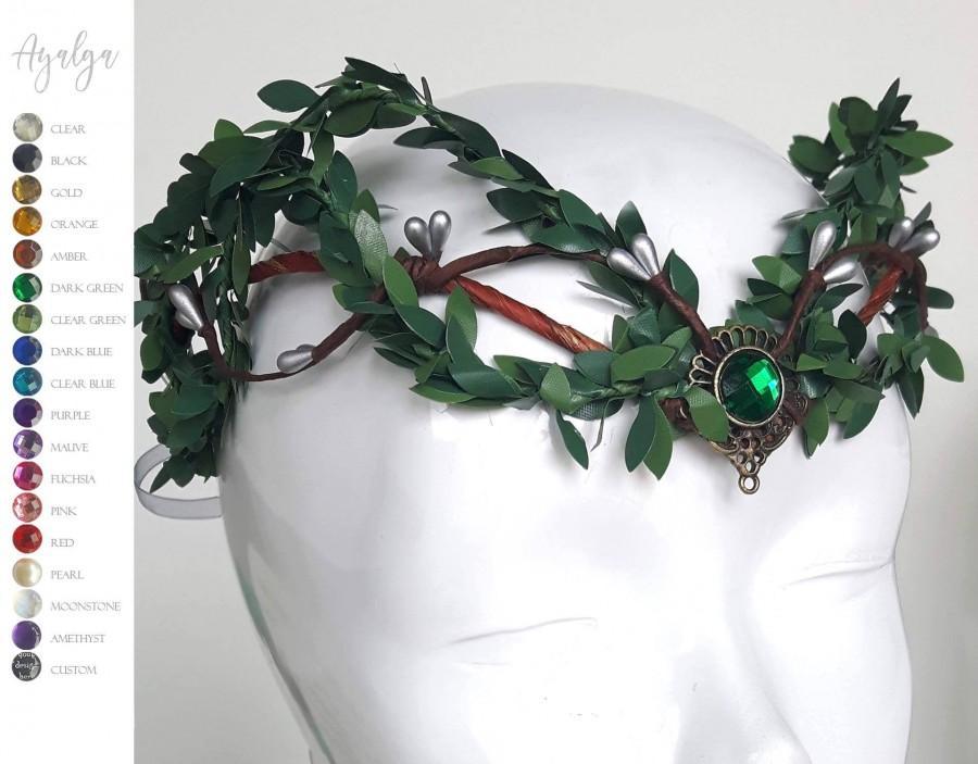 زفاف - Woodland elf tiara - elven headpiece - fairy crown - celtic wedding - pagan crown - elven tiara - elvish crown - woodland crown - headpiece