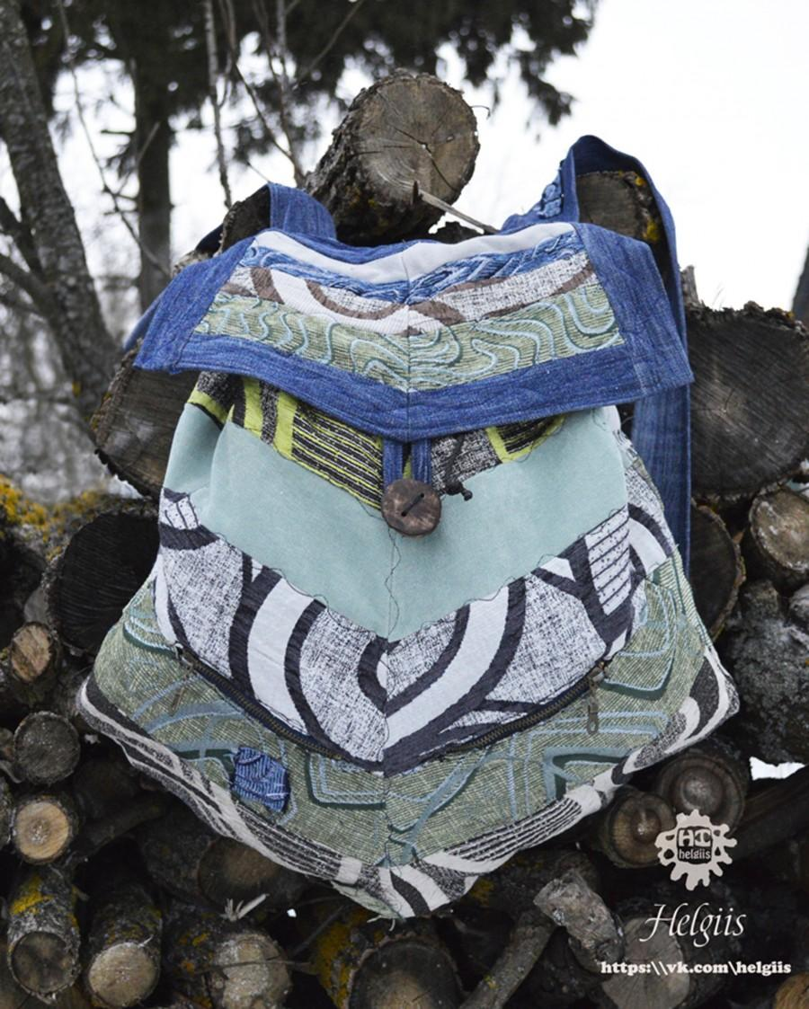 """Mariage - Eco backpack """"Buggy backpack"""" Vegan backpack  Upcycling backpack personalization"""