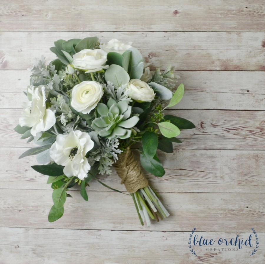Свадьба - wedding bouquet, wedding flowers, boho bouquet, bridal bouquet, white bouquet, white and greenery, succulent bouquet, wildflower bouquet