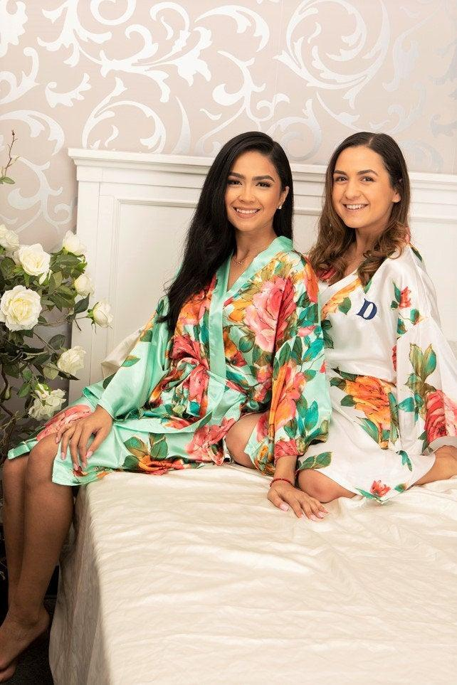 Свадьба - Bridesmaid robes, Bridesmaid robe, Bridesmaid gift, Bridal Robe, Bride Robe, Bridal party robes, Wedding robes, Wedding robe, Robes