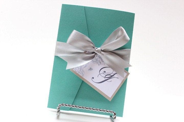 Wedding - Wedding Invitations Blue White and Silver
