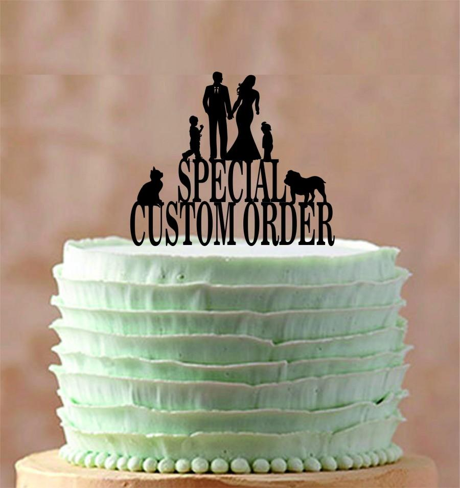 Mariage - Special Custom Order Wedding Cake Topper