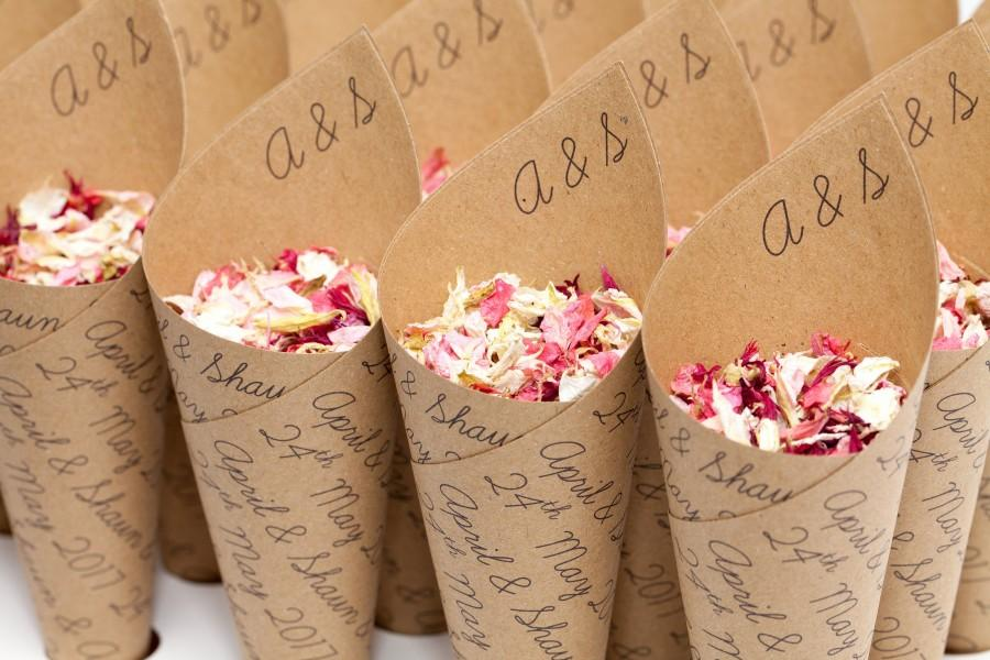 Свадьба - Wedding confetti cones, Classic Personalised
