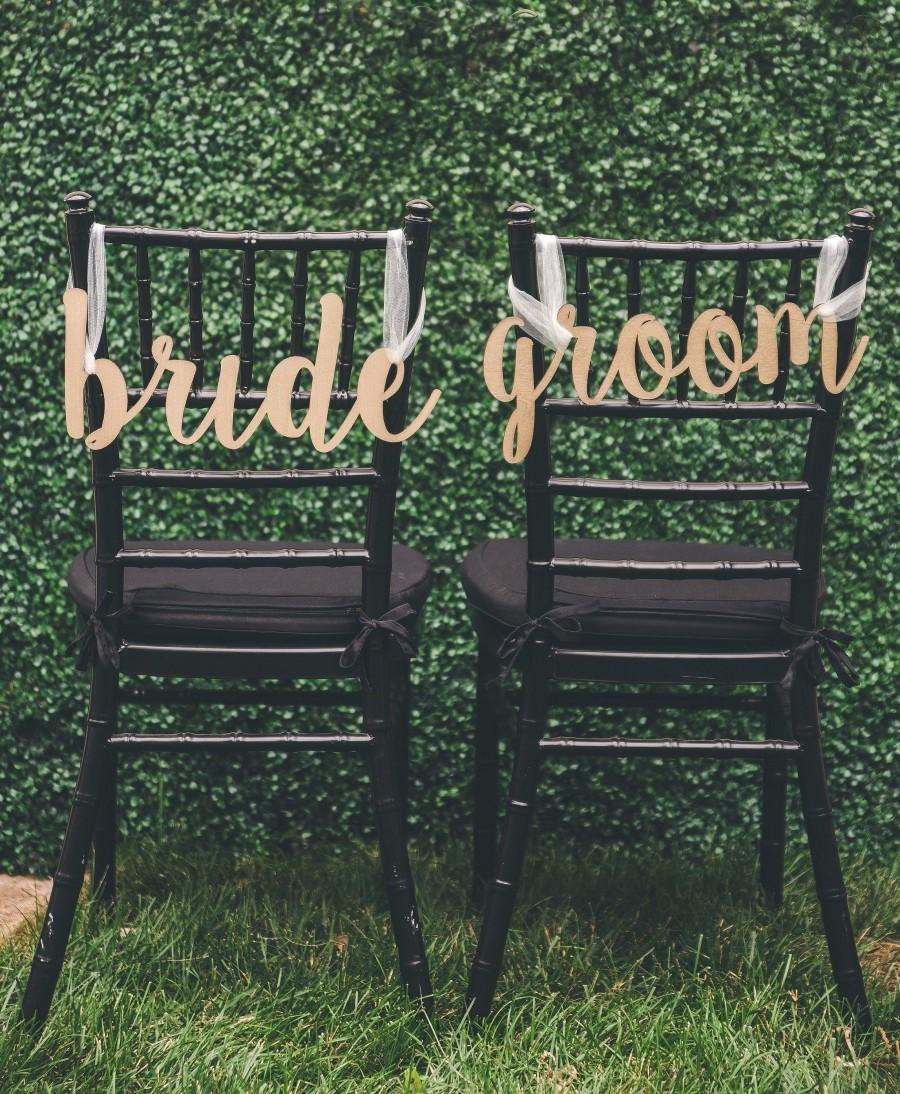 Свадьба - Bride & Groom Chair Cut Outs