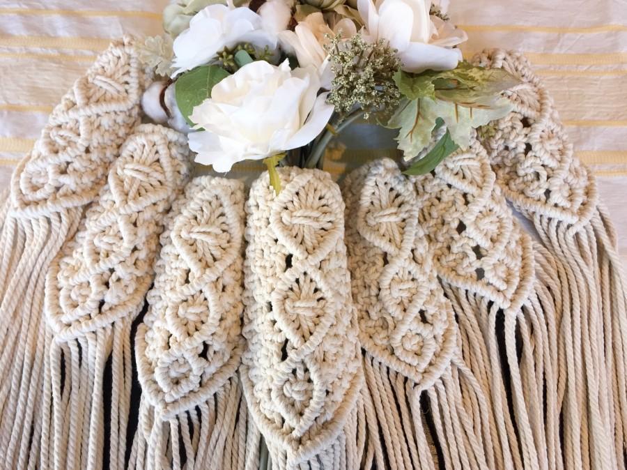 Свадьба - Macrame Bouqet wrap