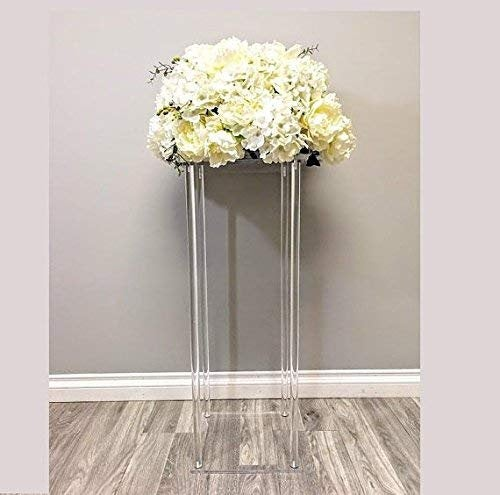 """Свадьба - 14"""" Tall Square Acrylic Event centerpiece without Acrylic Hanging Crystal Beaded for Wedding Table Decoration Centerpiece"""