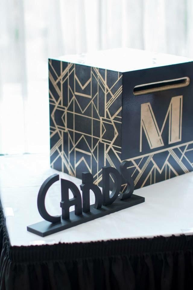 """Mariage - Vintage Wedding Cards Sign for Table - Great Gatsby Style """"Cards"""" Table Sign - Wedding Sign for Reception Decorations (Item - GCA200)"""
