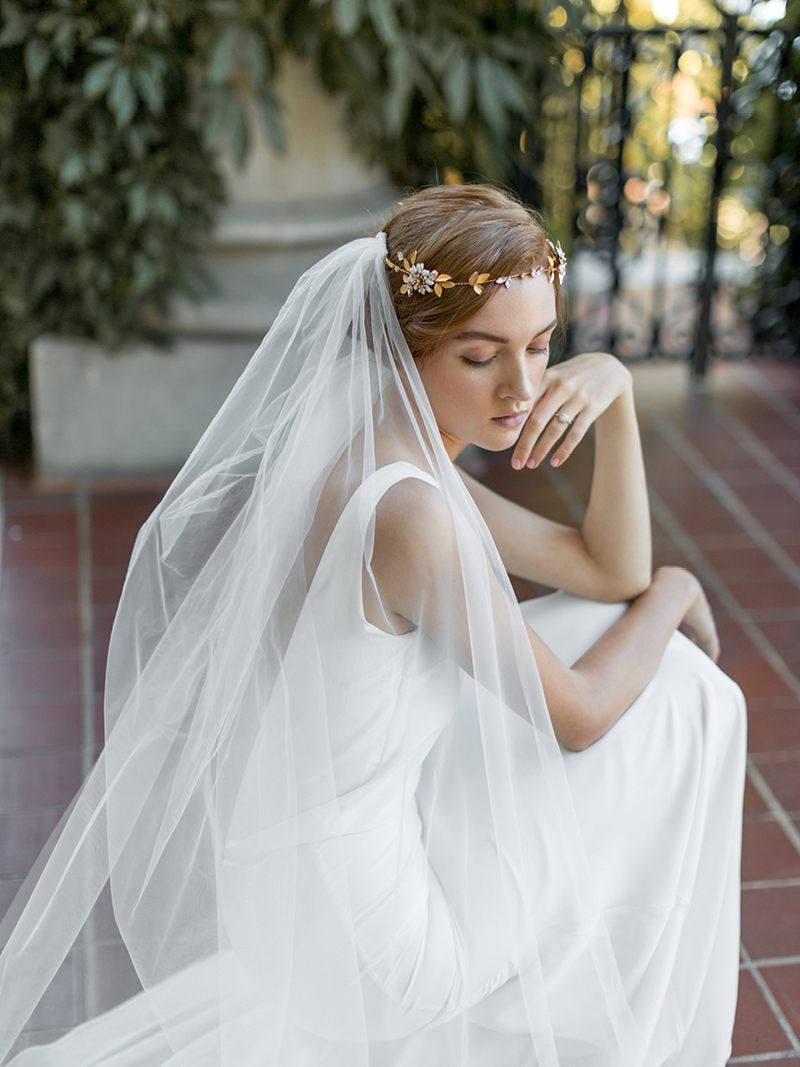 Hochzeit - Flower Crown Veil