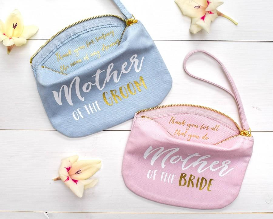 Mariage - Wedding Thank you Gift - Mother of the Bride Make Up Bag - Mother of the Groom Wedding Gift - Unique Gift for Mother - Make up Cosmetic Bag
