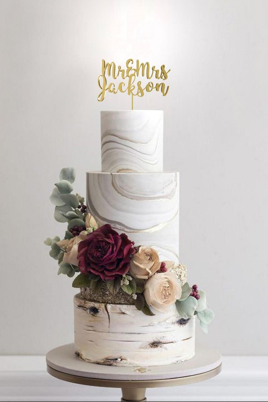 Mariage - Mr and Mrs Wedding Cake Topper by Rawkrft - Customize Your Own - Designed and Made in Los Angeles California - Ready to ship in 1-2 Business