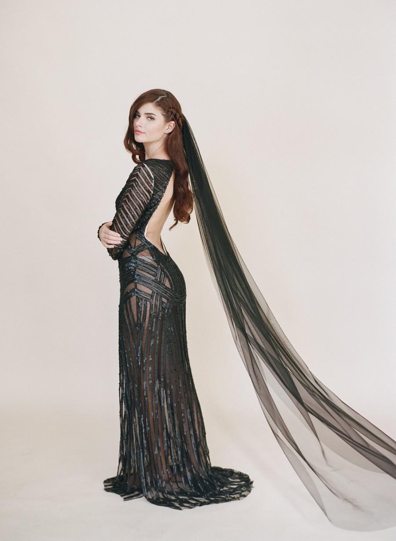 زفاف - Black Bridal Veil, Wedding Veil, English Net, Black Veil, Gothic Veil, Simple Veil, Soft Fabric, Classic Veil, Little Something Veil 0801EN