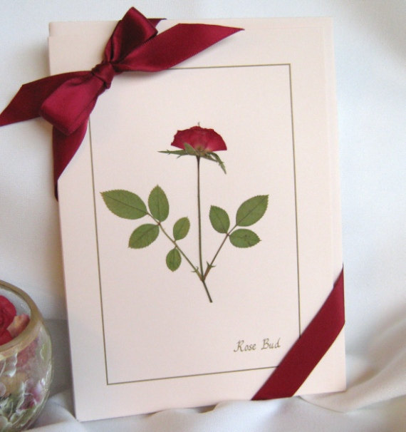 Hochzeit - Pressed Flower Cards, Romantic Unique Card Set, Gift For Her, Valentine's Mothers Day Gift, Rose Lovers Gift, Birthday, Wedding Gift