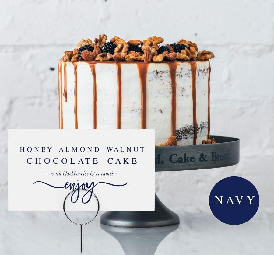 Hochzeit - Navy Dessert Buffet Sign Template Buffet Sign Template Food Labels Template Calligraphy Food Label Template Wedding Food Sign