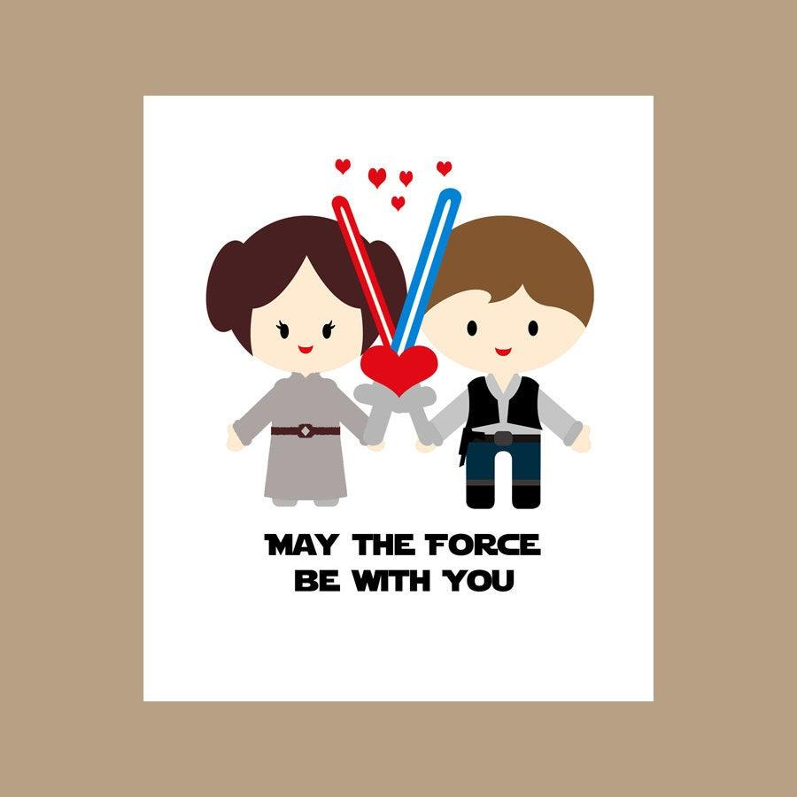 Hochzeit - Star Wars Wedding Card - Star Wars Valentine Card, Geek Wedding Card - Star Wars Love Card - Nerd Wedding Card, Geek Valentine