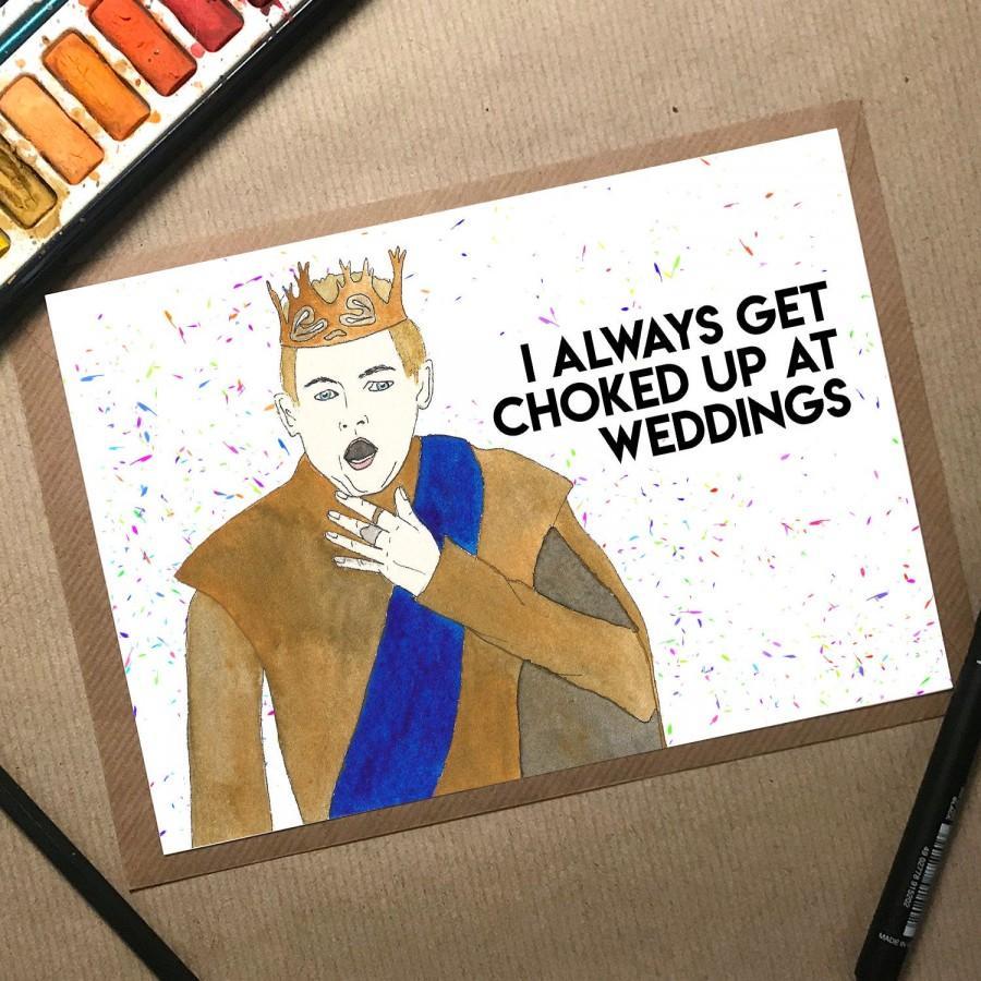 Hochzeit - Funny Wedding Card, Game of Thrones Wedding Card, GoT Wedding Gift, Couple Card, Funny Engagement Card, TV Show Card, Joffrey Card, Tormund